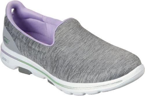 Skechers GOwalk 5 Surprise Ladies Sports Grey / Lavender